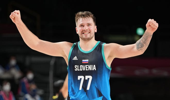 Luka Doncic scored 48 points in Slovenia's 118-100 win over Argentina.
