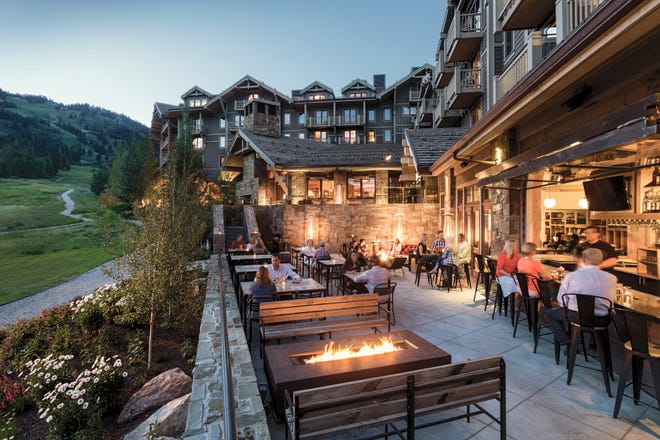 The rooms at Four Seasons Resort and Residences Jackson Hole offer weeping mountain views.