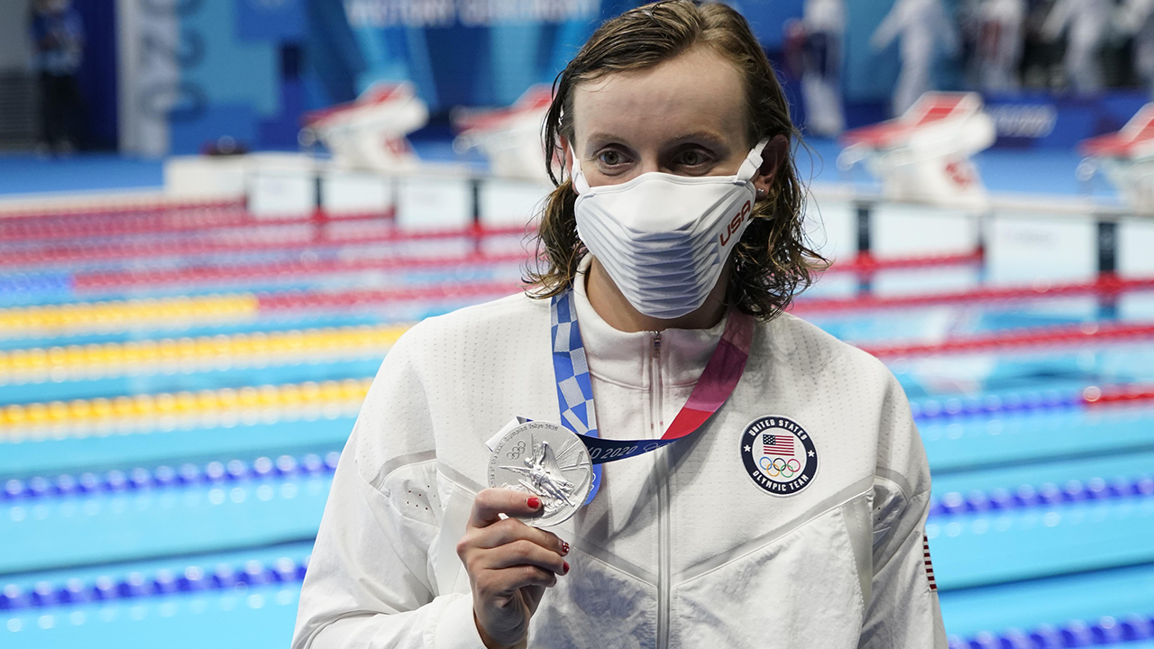 Katie Ledecky gets silver, two US golds in skeet shooting, Simone Biles is back on Tuesday