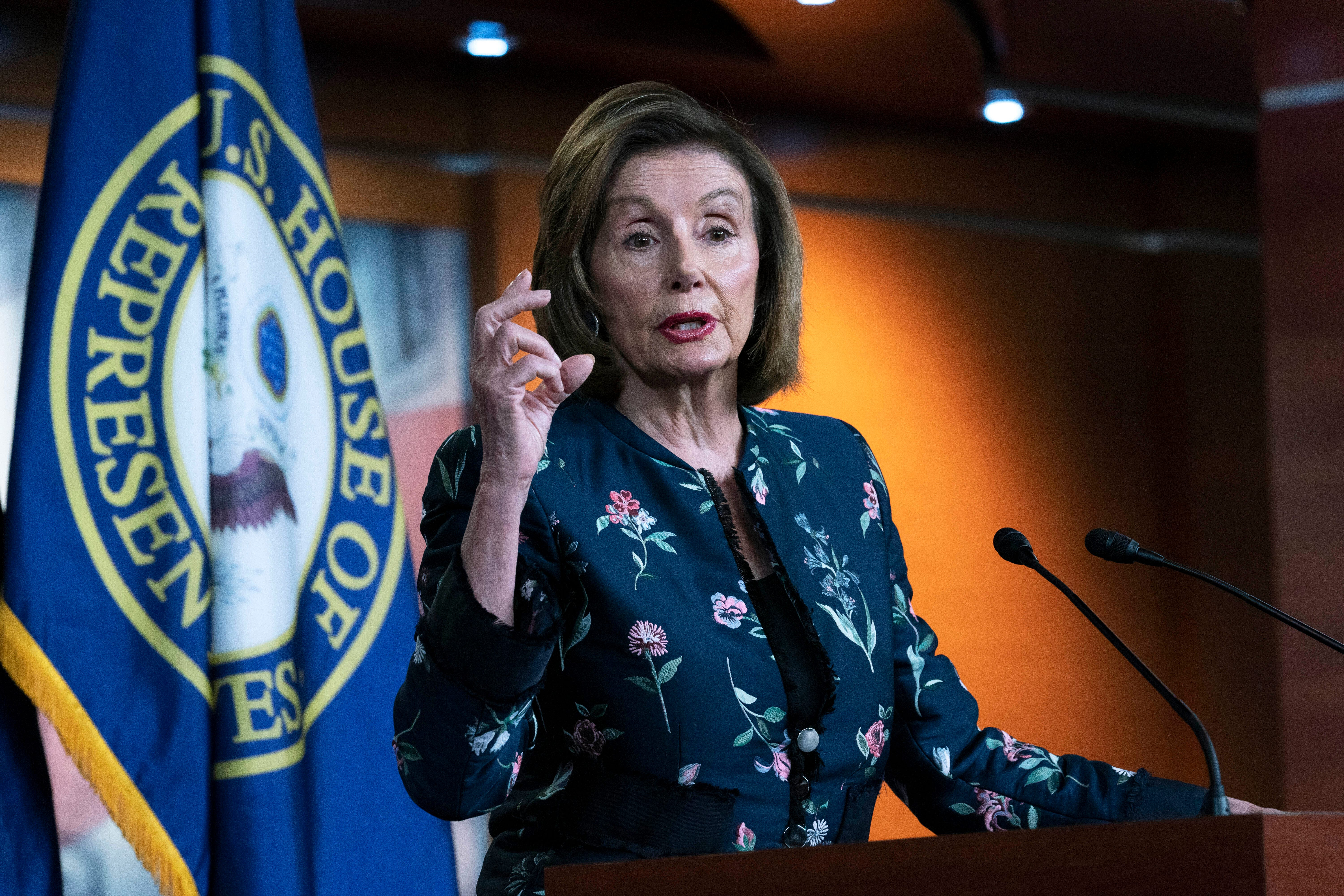 House Speaker Nancy Pelosi, D-Calif., speaks to reporters during a news conference at the Capitol in Washington, D.C., on July 22, 2021. Pelosi discussed her reasons for rejecting two Republicans chosen by House GOP leader Kevin McCarthy to be on the committee investigating the Jan. 6 Capitol insurrection.