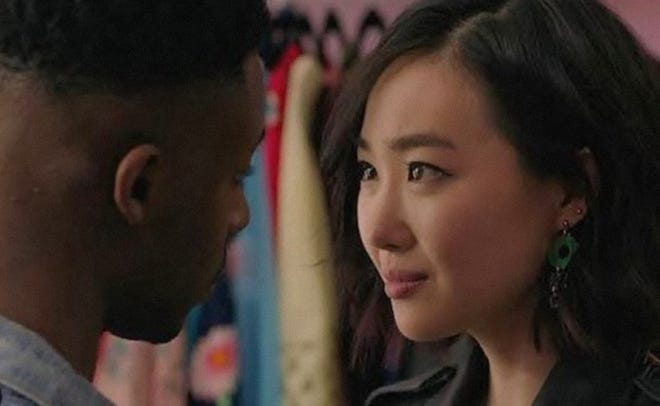 """(L-R) Elijah Boothe and Ruby Park star in writer-director Derrick Perry's debut feature, """"Pink Opaque,"""" available on VOD on July 27, 2021."""
