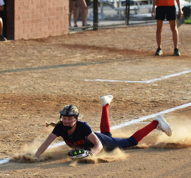 Third baseman Maggie Mortensen had an outstanding freshman season to help a young Ballard softball program top 20 wins against one of the toughest schedules in the state this past season.