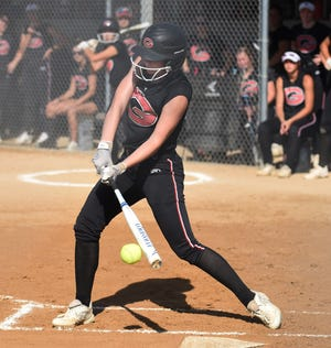 Gilbert senior Nessa Johnson made the all-Raccoon River Conference first team in softball for the 2021 season. Johnson hit .407 and scored 12 runs against the best competition in Class 4A and also went without an error in center field.