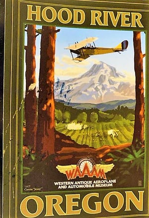 A reader postcard shows old illustration from an Oregon museum.