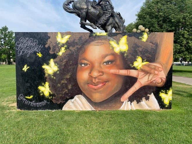 A Ma'Khia Bryant mural currently on display in Denver, Colorado