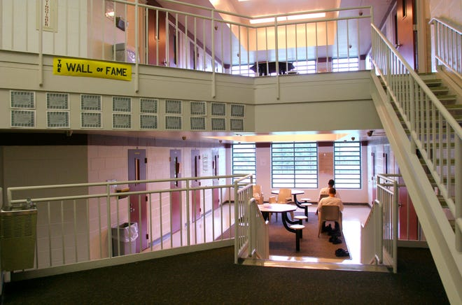 The interior of one of the buildings at the Circleville Juvenile Correctional Facility.