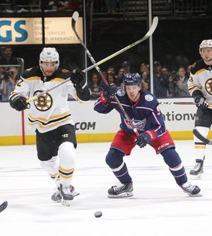 """Center Sean Kuraly is expected to bring a strong two-way game to Columbus, but says his biggest contribution to the Blue Jackets may be his """"belief in where (the team is) going."""""""