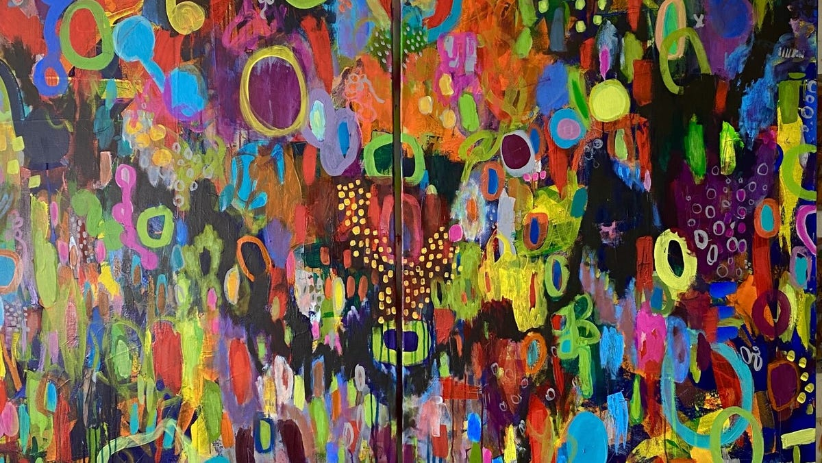 Visual arts: Bold colors, patterns define Brenden Spivey's artwork in New Albany show