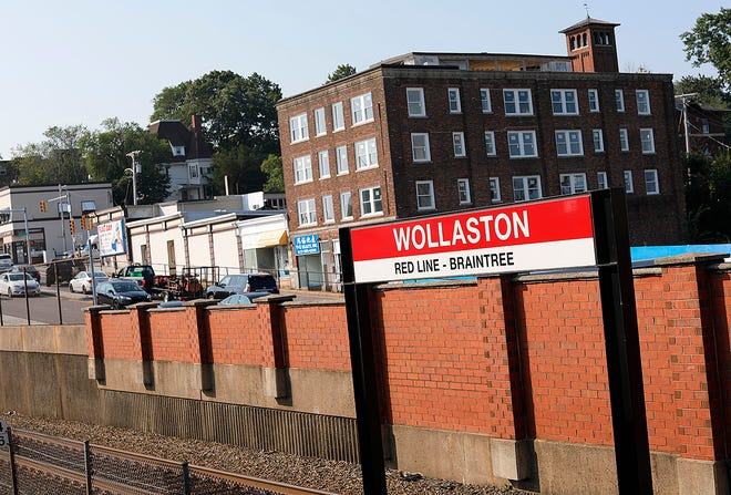 The Wollaston Red Line station on Tuesday, July 27, 2021.