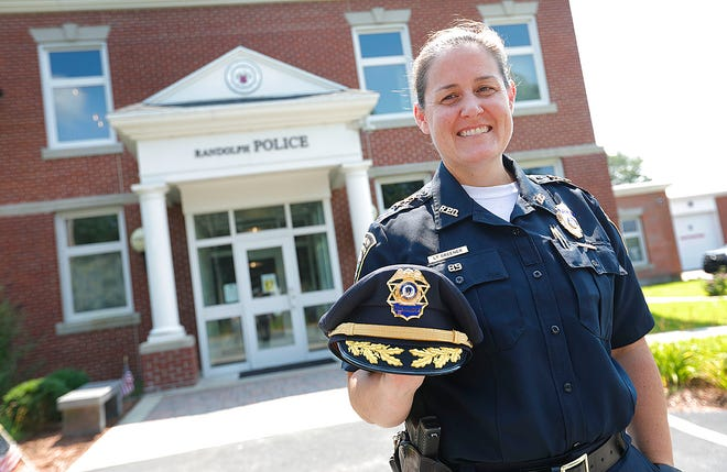 Randolph Police Cmdr. Melissa Greener is the first woman to hold that rank in Randolph. She is pictured July 27, 2021.