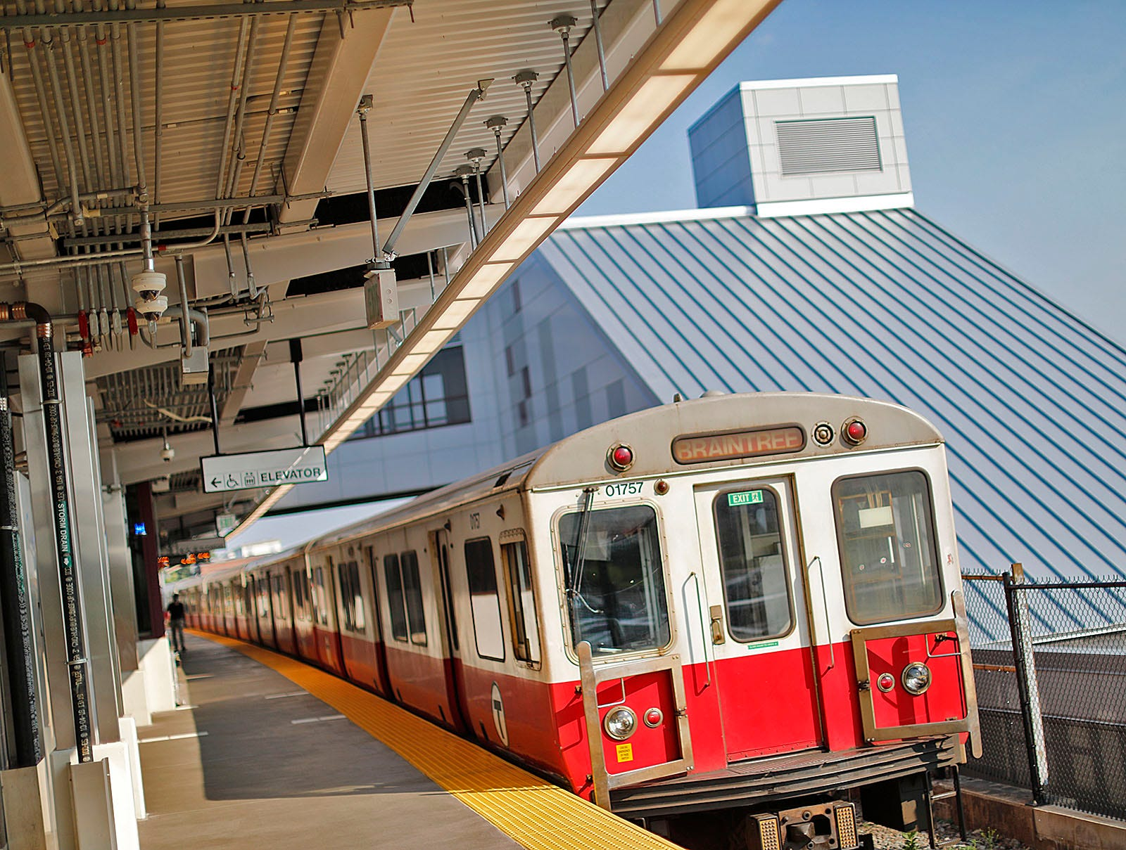 A Red Line train on Tuesday, July 27, 2021. The South Shore extension of the Red Line turns 50 this year.