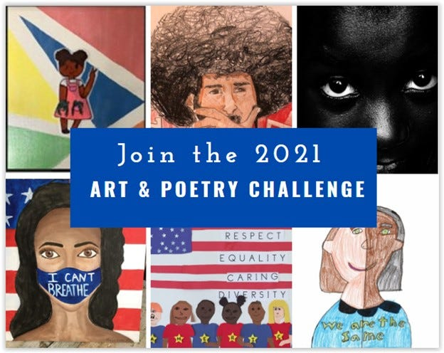 The Racial Unity Team has announced the Art & Poetry Challenge for New Hampshire artists and writers of all ages. Deadline for entries is Sept. 1.