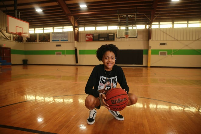 Azaria Johnson started playing basketball at the age of 7 in this very gym at the Richmond Hill Recreation Department. Johnson recently signed a letter of intent to play college basketball at Penn State Hazleton.
