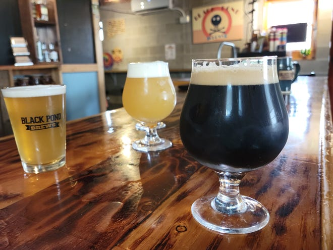 Black Pond Brews serves up all sorts of styles, like their Double Paw: a double smoked maple milk stout.