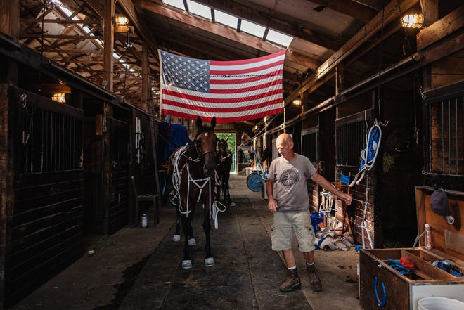 74-year-old John Hochstetler and his son John (not pictured), own and run Stone Creek Stables, in addition to stabling horses bred for Harness Racing at the Tuscarawas County Fairgrounds and many other race tracks throughout Ohio.