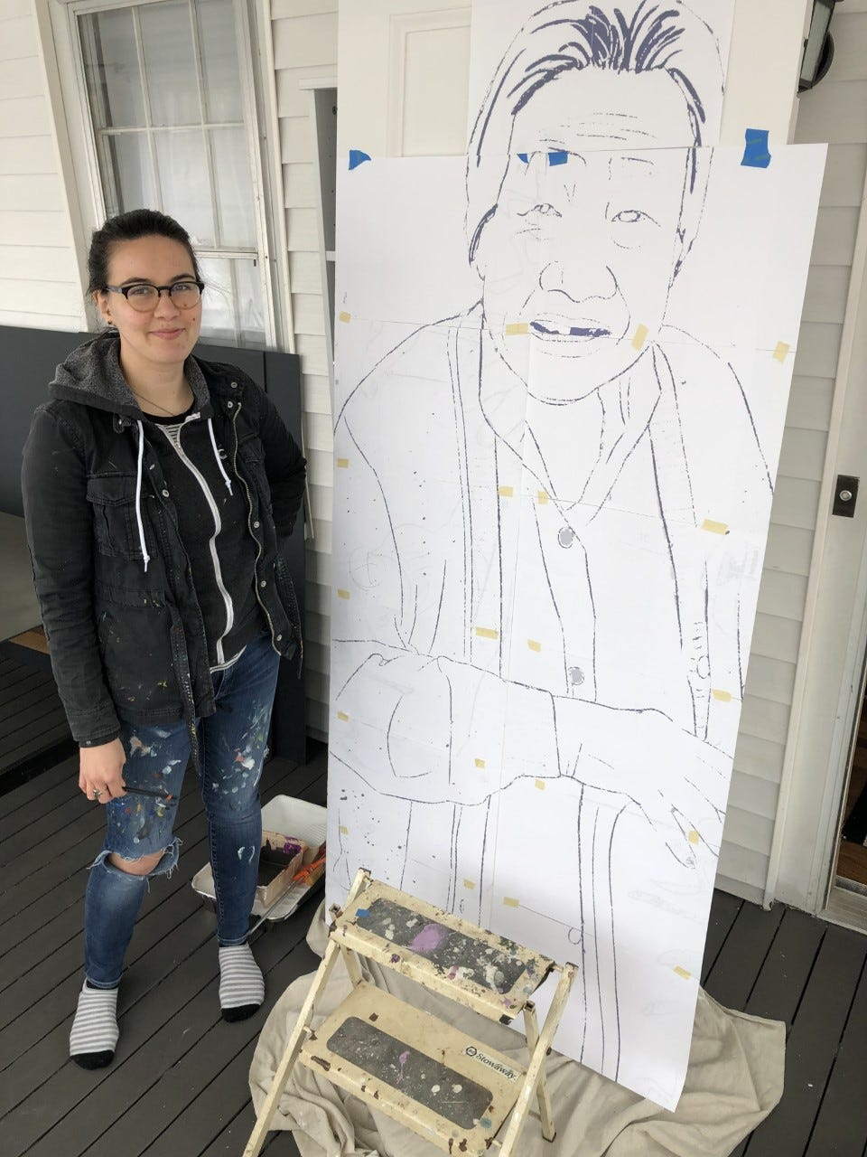 Artist speaks out after anti-Asian vandalism in Newton