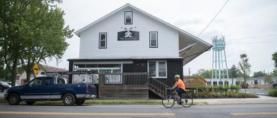 The Feed Mill at Medford Village, a new destination market located on Main Street in Medford, is home to Harvest Coffee Roasters, Whole Hog Cafe, Wing it Forward and King's Road Brewing Company.