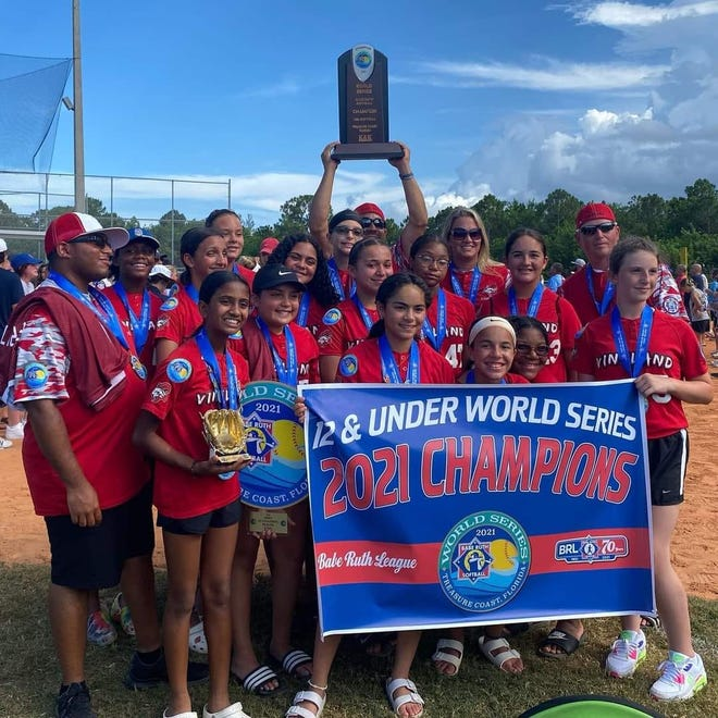 The Vineland Pigtail 12-and-under softball team captured a World Series title on Monday.