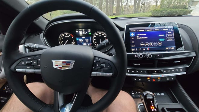 Though not as fancy as big/digital BMW and Mercedes layouts, the 2021 Cadillac CT5 sports an attractive, efficient cabin with everything at your fingertips.