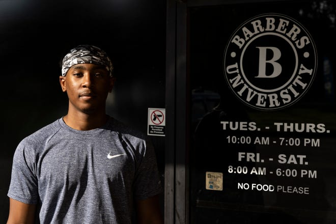 Jerry Johnson is a current student at Barbers University. Johnson is a former certified nurse assistant who started at Barbers University to pursue a passion he started in high school as the pandemic made the medical field less attractive to him.