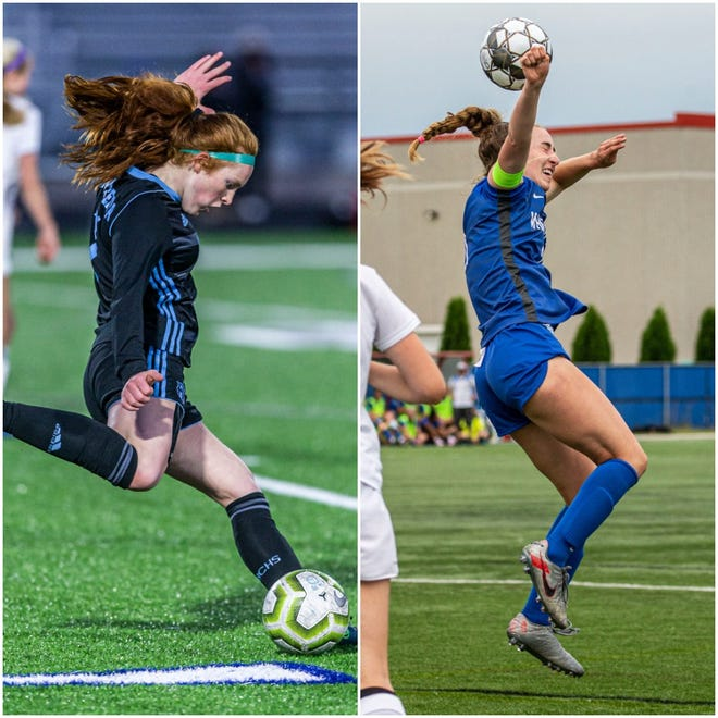 Brookfield Central's Kayla Budish (left) and Whitefish Bay's Maggie Starker claimed All-American status in addition to their all-state honor.