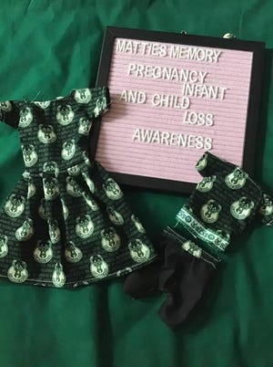 """Hazel Flint-Jones created Mattie's Memory to support families through the loss of a child. She makes """"memory bags"""" and creates special gowns for micro-preemies to infants."""
