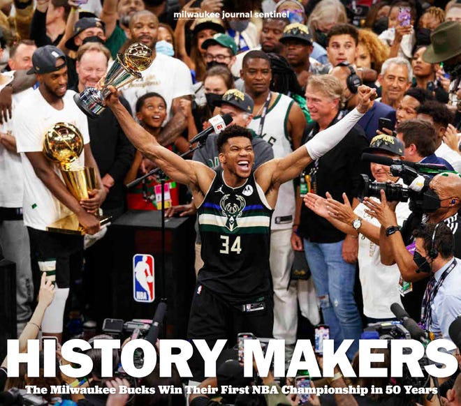 History Makers commemorates the Milwaukee Bucks 2020-21 NBA championship.