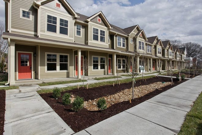 The Housing Fund partnered with a developer to create 11 town homes in Chestnut Row, the organization's first development in its Shared Equity Program.