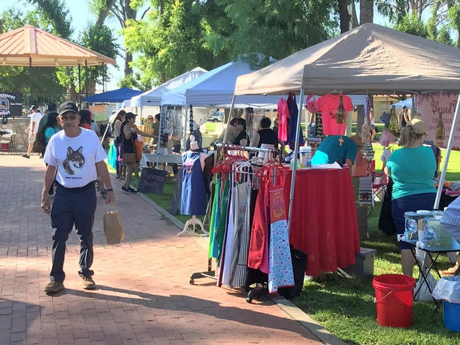 Leo Lopez took in the first Deming MainStreet Market of the year at Luna County Courthouse Park back on July 10, and said he would return for the next market in August.