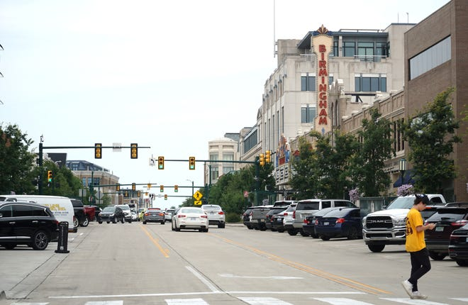 South Old Woodward looking north toward Maple in Birmingham.