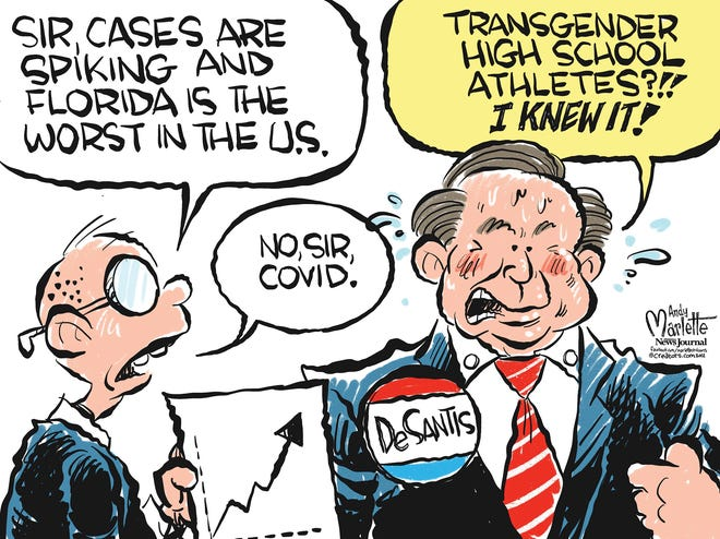 Marlette cartoon: Florida leading the nation in new COVID cases