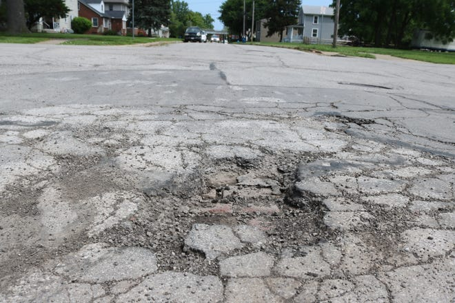 """Port Clinton's street department has been busy patching potholes throughout the city as officials aim to address the issue with a more long-term solution as part of the """"Forward Looking Infrastructure Project."""""""