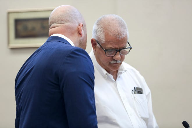 Former Oregon State Representative Mike Nearman pleads guilty to official misconduct in the first degree on Tuesday at the Marion County Circuit Court in Salem.