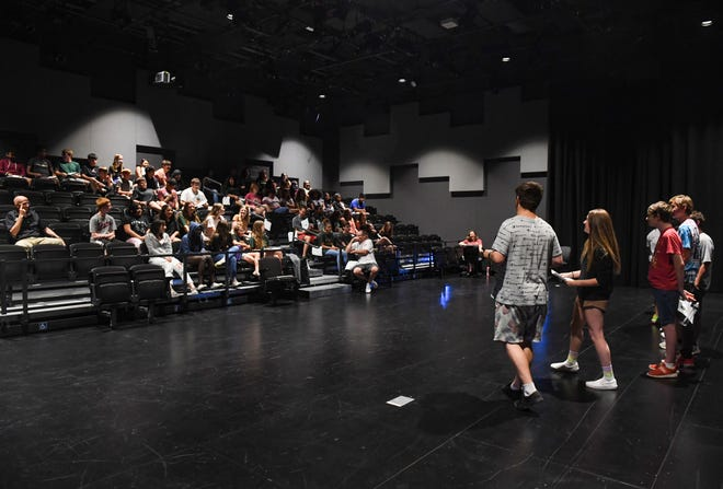Students participate in a not-so-serious award ceremony following the completion of the Connections summer program on Tuesday, July 27, 2021 at Jefferson High School in Sioux Falls.