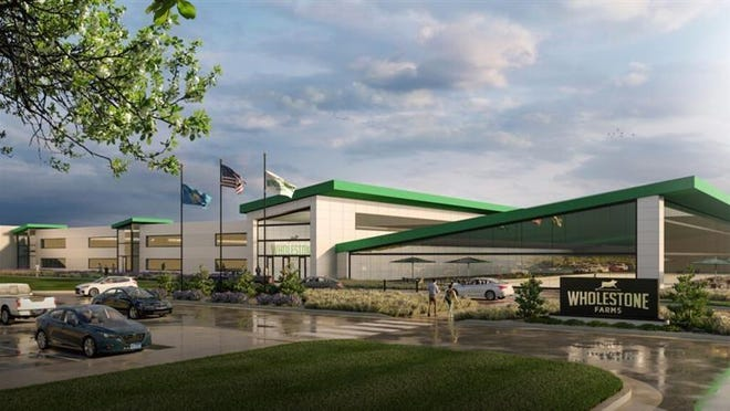 A rendering of the Wholestone Farms pork processing plant planned for Sioux Falls.