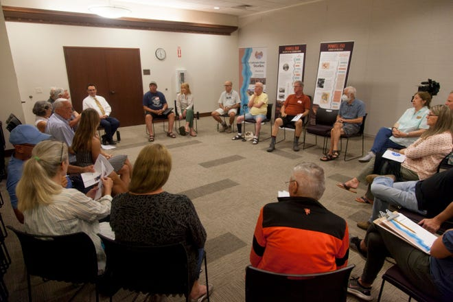 Community members gather at the St. George Library to discuss water issues Monday, July 26, 2021. These topics, among many others, are covered in The Water Tap series on The Spectrum & Daily News.