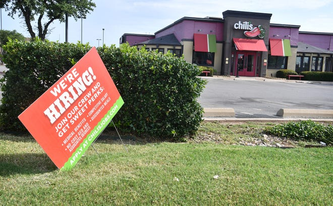 Chili's Grill and Bar in Wichita Falls is just one of many businesses struggling with staffing issues.