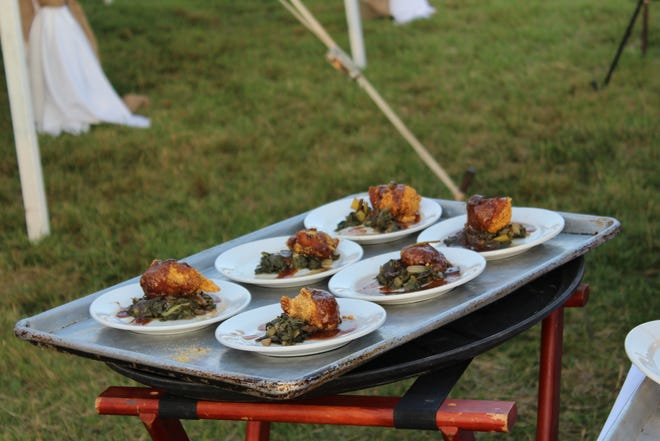 A previous dish from a farm-to-table dinner hosted by Sailsbery.