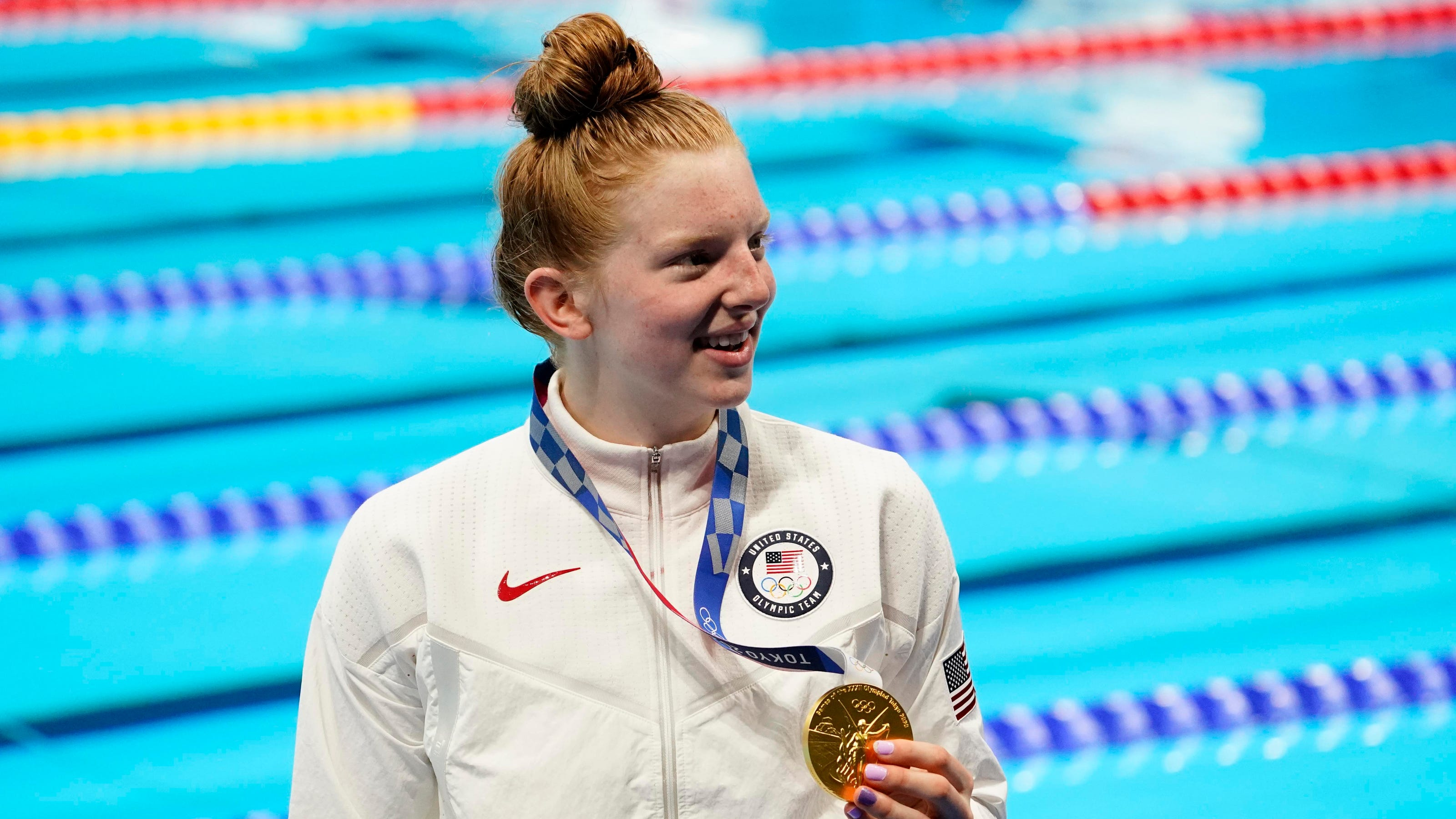 Lydia Jacoby, first Olympic swimmer born in Alaska, wins gold for the US – and for Seward