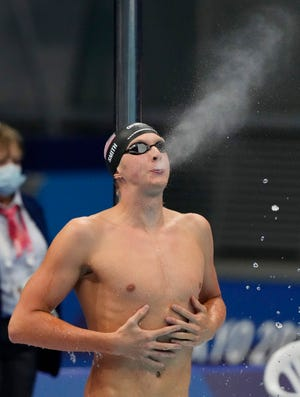 University of Florida swimmer Kieran Smith at the Tokyo 2020 Olympic Summer Games at Tokyo Aquatics Centre.