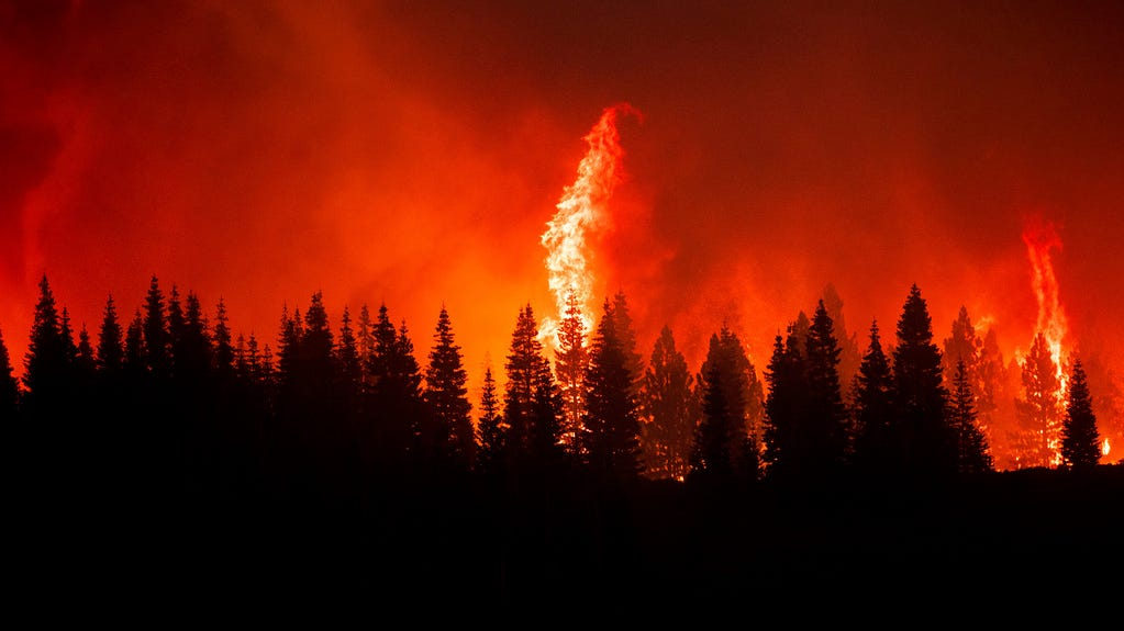 More wind, higher temps could worsen California's largest wildfire; East Coast sees more smoky skies