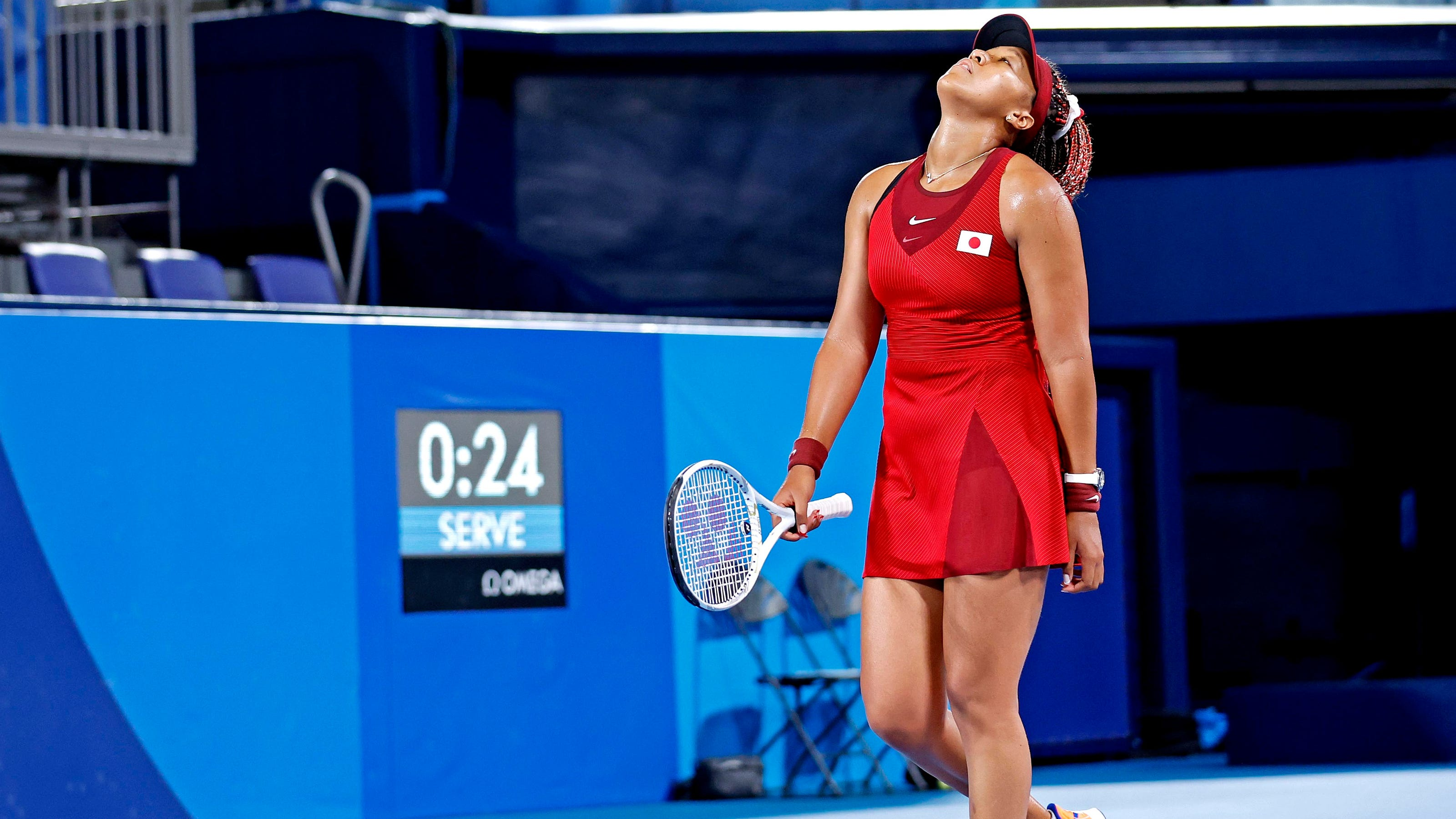 Naomi Osaka upset by Marketa Vondrousova in third-round Olympics women's tennis match