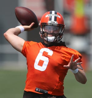 Browns quarterback Baker Mayfield is 23-22 as a starter in Cleveland.