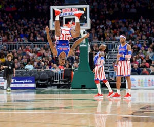 The Harlem Globetrotters bring their unique style of play and performance to James Brown Arena on Thursday.