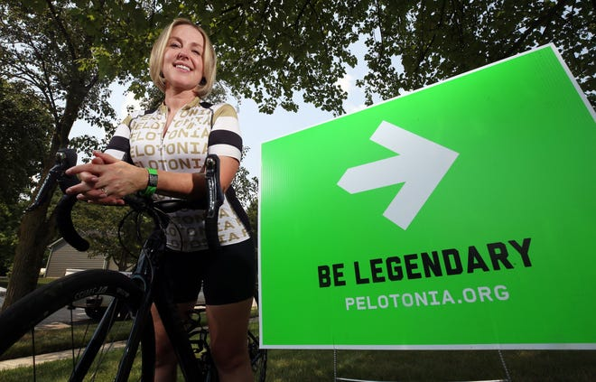 Susan Gifford of Dublin, a cancer survivor who will ride 80 miles in Pelotonia, is one of the participants who is excited for the return of an in-person ride with the camaraderie of other cyclists.