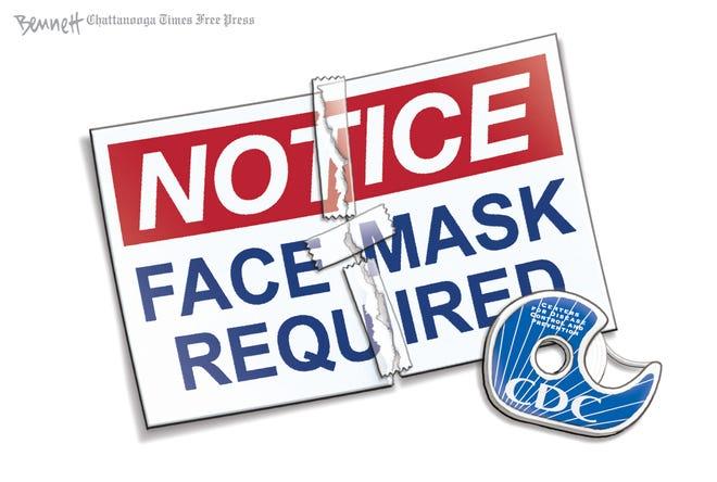 CLAY BENNETT cartoon on mask requirement