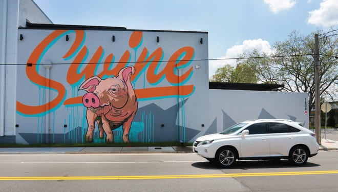 A freshly painted mural marks the new location of The Bearded Pig at 1808 Kings Ave. in San Marco. The restaurant is less than a half-mile from the original restaurant, which is transitioning into a special events venue.