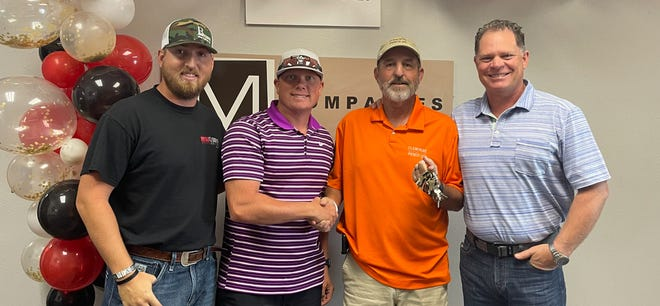 From left, Ryan Breton, Jason Allen, Paul Phillips and Mike Williams. MW Supply, owned by Williams, acquired Cleburne Fence.