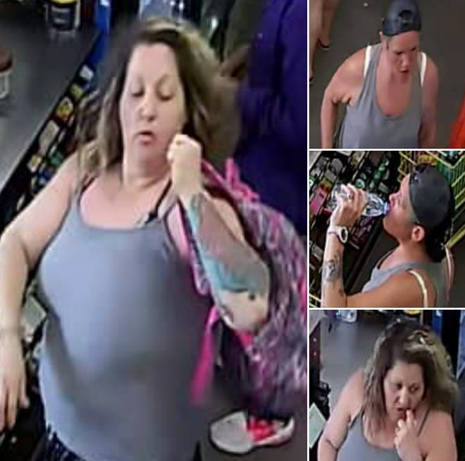 Gonzales Police released surveillance images of two suspects.