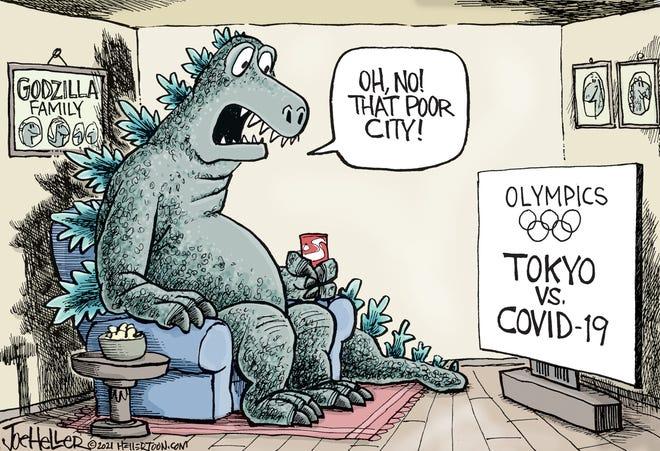 Godzilla Heller cartoon